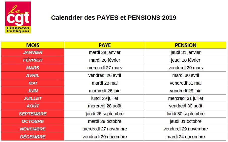 Calendrier Pension.Cgt Finances Publiques Moselle